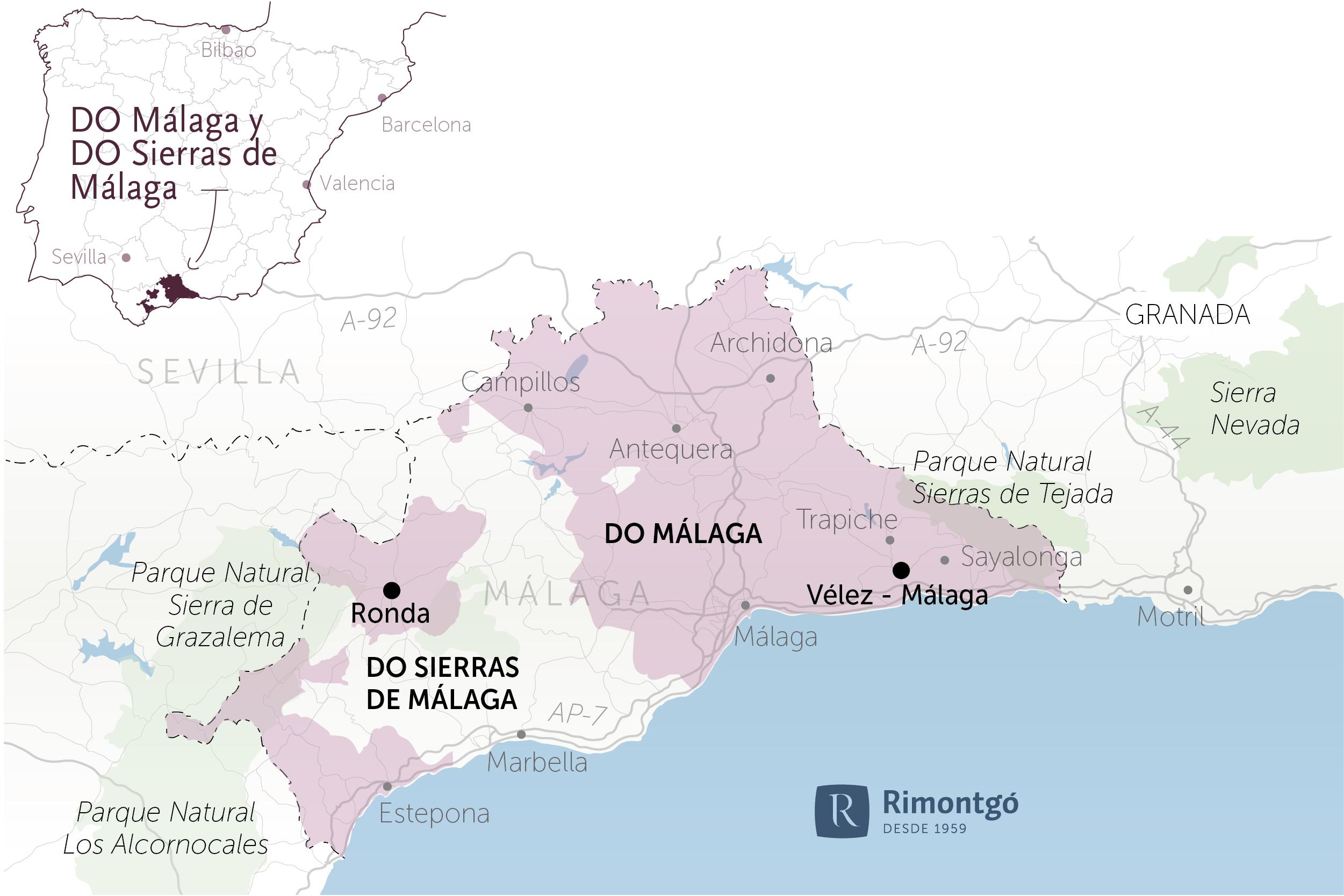 DO Málaga y DO Sierras de Málaga